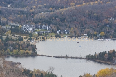 View on Mont Tremblant resorts and lake