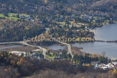 View on Mont Tremblant village