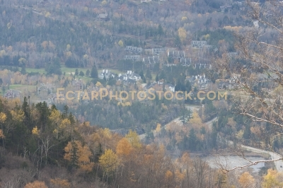 View on Mont Tremblant village and forest